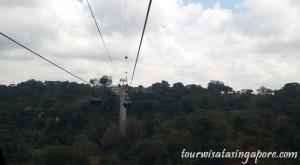 pemandangan atas cable car hutan mount faber